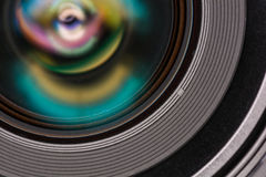 Front element of a camera lens Royalty Free Stock Images