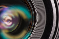 Front element of a camera lens Royalty Free Stock Image