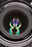 Front element of a camera lens Royalty Free Stock Photo