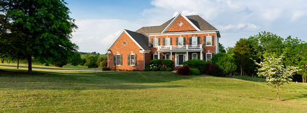 Front elevation large single family home Royalty Free Stock Photos