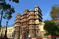 Historic Architecture Royal Palace(Rajwada) Indore Royalty Free Stock Photo