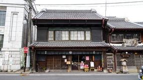 Front elevation of Sawara Town Stock Images