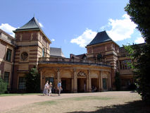 Front of Eltham Palace in England. Front view of Eltham Palace in London, England stock photography