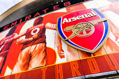 Front of The Emirates Stadium Royalty Free Stock Photography