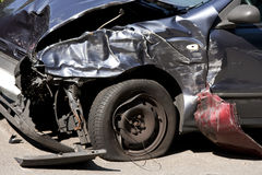 Front End Car Crash Royalty Free Stock Photography