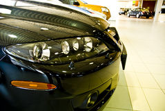 Front end of cars in showroom Royalty Free Stock Photo