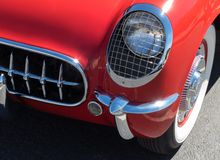 Classic early Corvette details royalty free stock photo