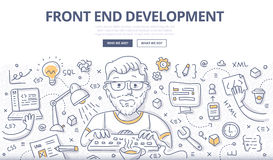 Front End Development Doodle Concept Photo stock