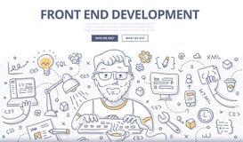 Front End Development Doodle Concept Stock Photo
