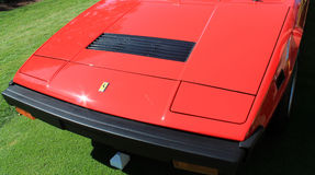 Front end ferrari 308 gt4. Retractable headlamps hood and bumper Royalty Free Stock Images