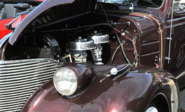 Front end of a hot rod. Image of a hot rod front end Royalty Free Stock Images