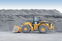 Front end loader. A front end loader heavy equipment for construction Royalty Free Stock Photo