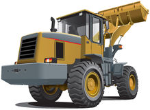 Front end loader. Detailed vectorial image of pale brown loader, isolated on white background. Contains gradients Royalty Free Stock Images