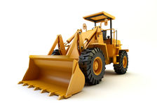 Front end loader. On white Stock Images
