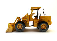 Front end loader. On white royalty free stock photos