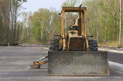 Front end loader. Machine on construction site royalty free stock photography