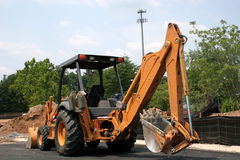 Front End Loader 7. Heavy equipment at job site Stock Photography
