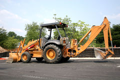Front End Loader 9. Heavy equipment at job site Royalty Free Stock Photos