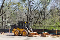 Front End Loader At Silt Fence Royalty Free Stock Photos