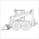 Front-end loader with bucket Stock Image