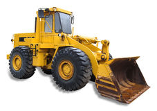 Front end loader, isolated. Frontend loader, isolated with shadow and clipping path Stock Images