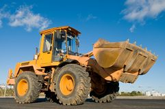 Front end loader machine Stock Photo