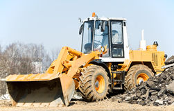 Front end loader machine Stock Images