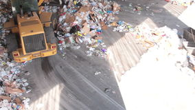 A Front End Loader Moves Trash at a Recycle Center ( 9 of 9) stock footage