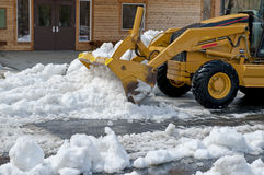 Front end loader moving snow Royalty Free Stock Image