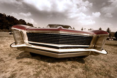 Front end of old muscle car Stock Photos