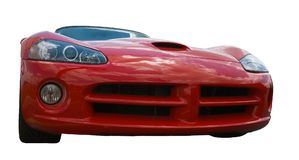 Front end of a red sports car Royalty Free Stock Images
