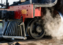 Front end of steam train Stock Image