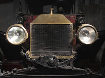 Front end of a vintage car Royalty Free Stock Photo