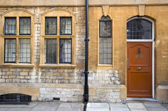 Front of English house. Front of classic house Oxford England. Area close to High Street Royalty Free Stock Images