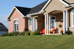 Front Entrance. Of a new home royalty free stock photo