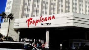 Front Entrance de l'hôtel et du casino de Tropicana à Las Vegas images libres de droits