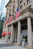 Front entrance of historic Fairmont Hotel,Boston Stock Photography