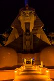 Front entrance of a hotel shaped as the Sphinx from Egipt Stock Image