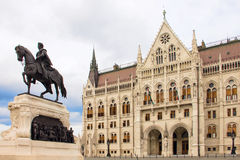 Front entrance of the Hungarian Parliament in Budapest, Hungary Stock Photos