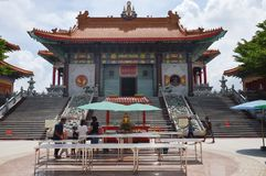 Front entrance of Leng Nei Yi 2 Chinese temple in thailand Stock Photography