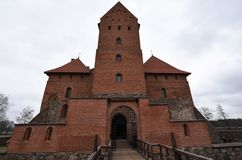 Front Entrance of medieval Trakai Castle, Lithuania Royalty Free Stock Photography