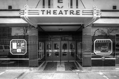 Front entrance of movie theatre Stock Photography