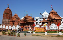 Front entrance Puri Jagannath Temple, Hyderabad Royalty Free Stock Image