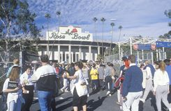 front entrance of Rose Bowl Football Game Royalty Free Stock Images