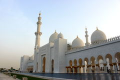 Front and entrance of the Sheikh Zayed Mosque Stock Photos