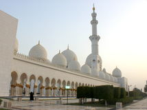Front and entrance of the Sheikh Zayed Mosque Stock Photography