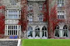 Front entrance in stone and vine, Adare Manor,Village of Adare,Ireland,October,2014 Stock Photography