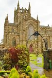 Front entrance to the Dunkeld Cathedral in the Scottish Highlands royalty free stock photography