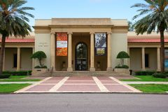 Front entrance to the historic Saint Petersburg, Florida, Museum of Fine Arts Royalty Free Stock Photo