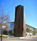 Front Entrance To The Modern Art Museum Fort Worth, Texas. Stock Photos